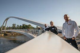 Kalasataman sillalla