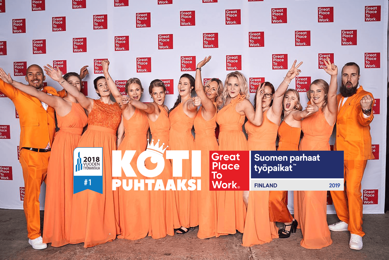 Koti Puhtaaksi voitti vuoden 2019 Great Place To Work -kilpailun